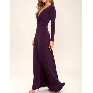 NWT Lulu's Chic-Quinox Maxi Dress Purple Small
